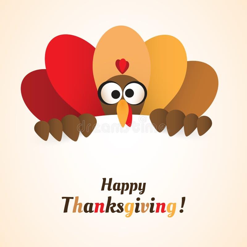 Happy Thanksgiving Card Design Template stock illustration