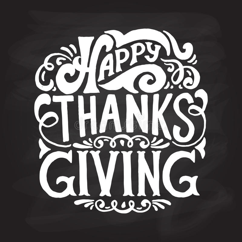 Happy thanksgiving icon, logo or badge royalty free illustration