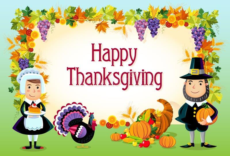 Happy thanksgiving. Illustration of happy thanksgiving day background royalty free illustration