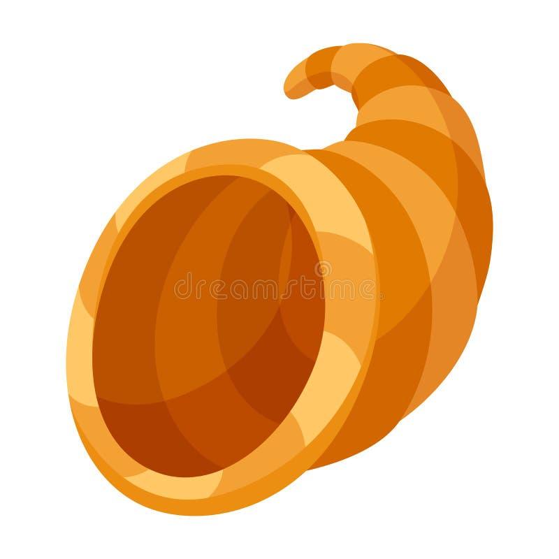 Happy Thanksgiving illustration horn of plenty. stock illustration