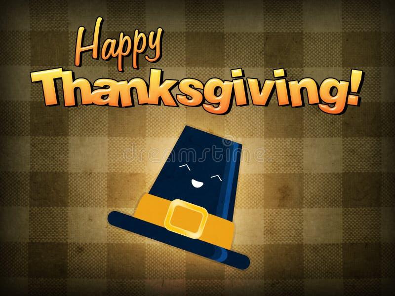 Happy thanksgiving, pilgrim hat vector illustration