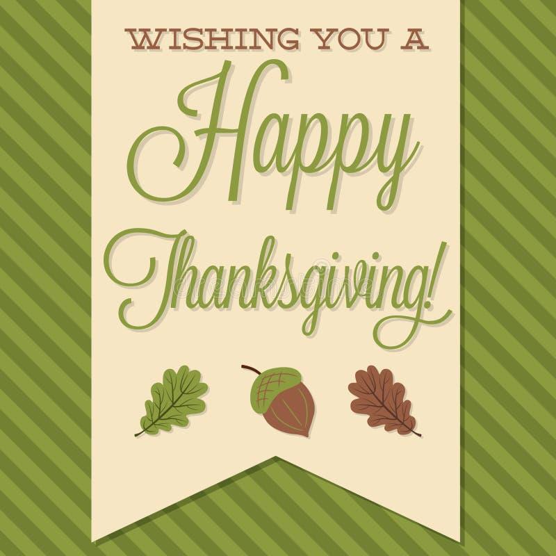 Happy Thanksgiving stock illustration