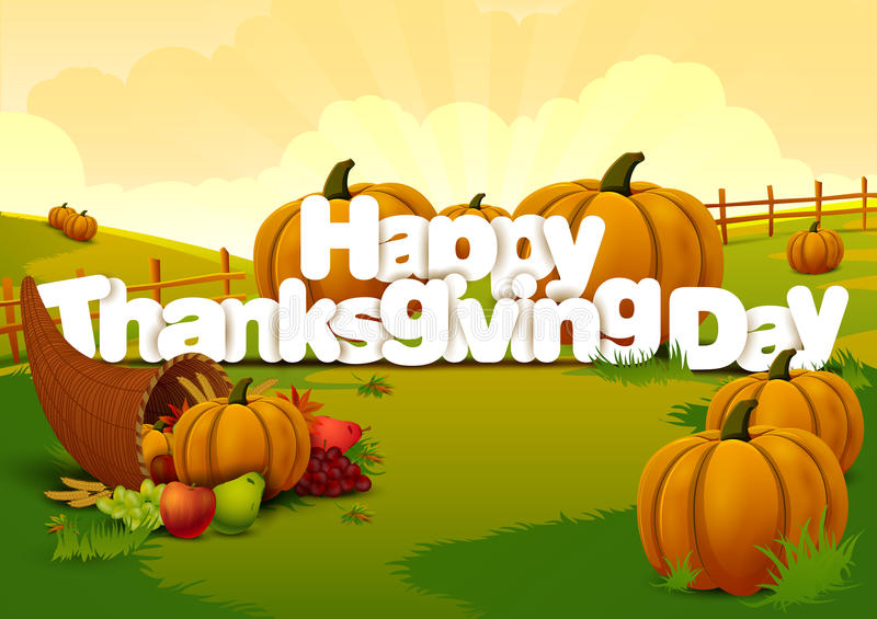 Happy Thanksgiving wallpaper background stock illustration