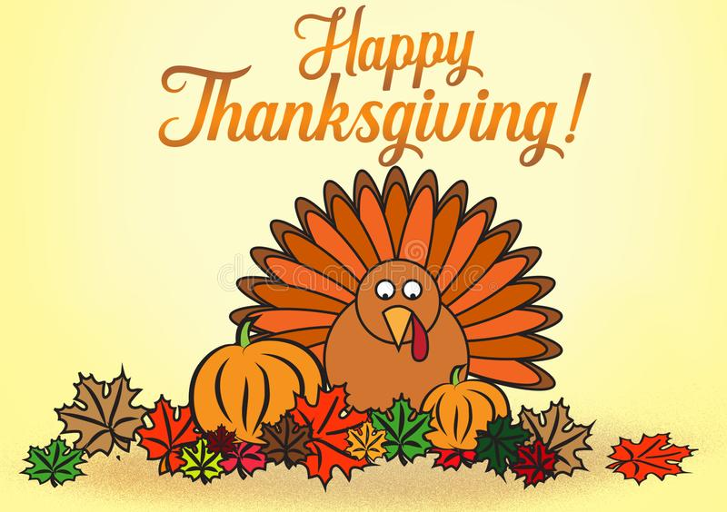 Happy Thanksgiving wishes as a digital card design vector illustration