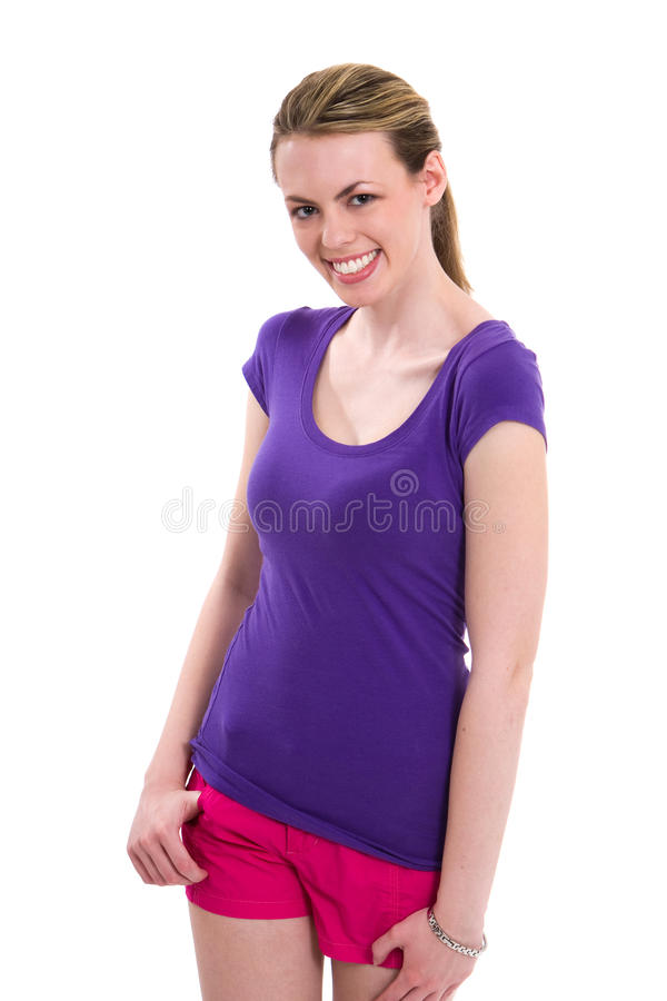 Happy Thin Woman royalty free stock photography
