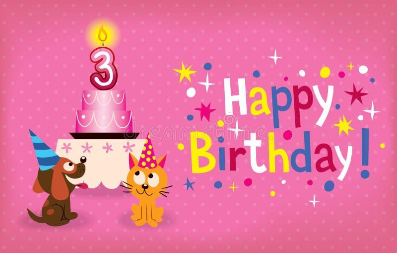 Happy Third Birthday Royalty Free Stock Photography