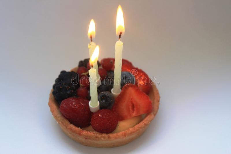 Happy third birthday cake stock images