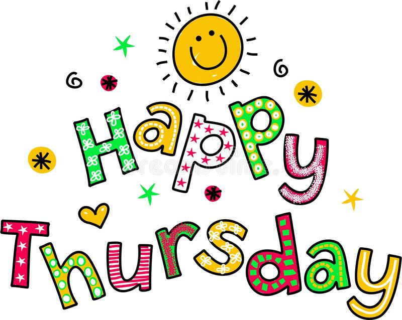 happy thursday cartoon text clipart stock illustration rh dreamstime com happy thursday clipart free happy thursday clip art images