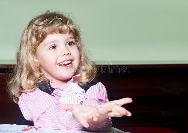 Happy time for little girl stock images