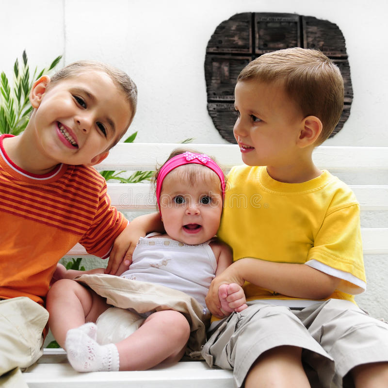 Free Happy Toddlers With Baby Girl Royalty Free Stock Image - 11096266
