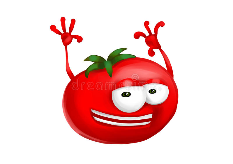 Happy tomato vector illustration