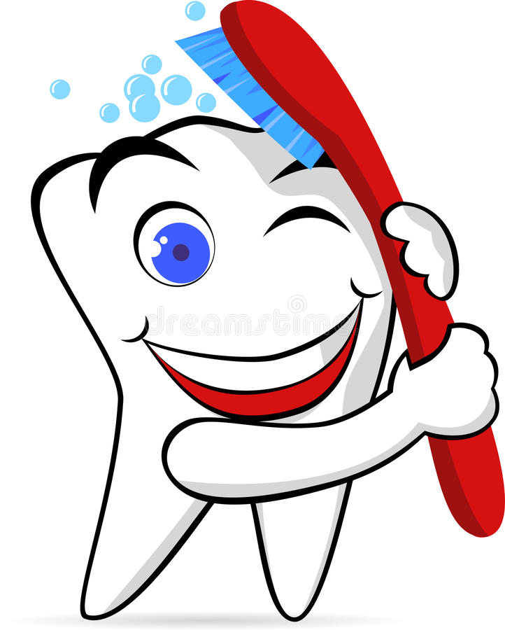 Download Happy tooth stock vector. Illustration of cartoon, brushing - 15651391
