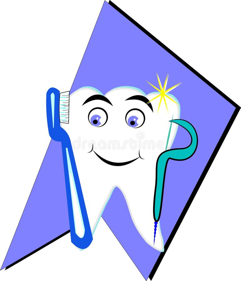 Download Happy tooth stock vector. Image of hygiene, health, grouped - 22961998