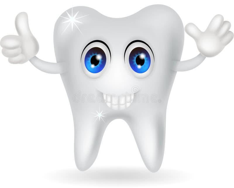 Happy Tooth Cartoon Stock Image