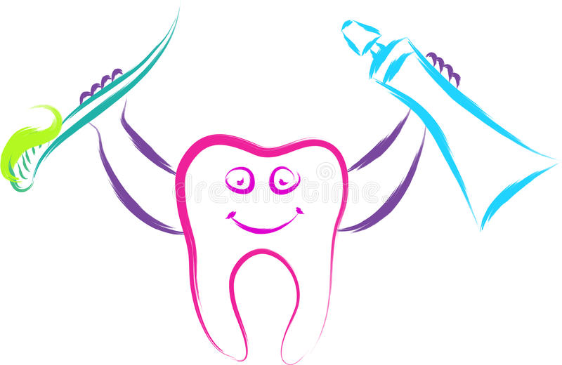 Happy tooth stock illustration