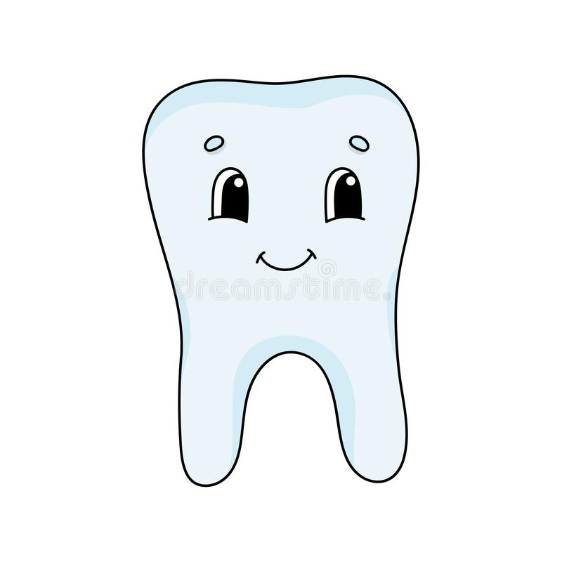 Cute Cartoon Tooth Character  Stock Vector - Illustration of