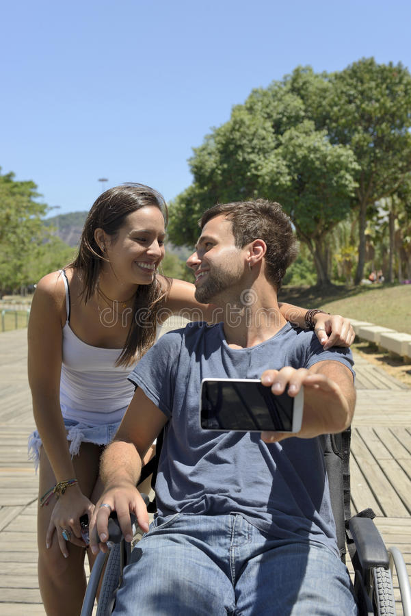 Happy tourist couple with map stock photo