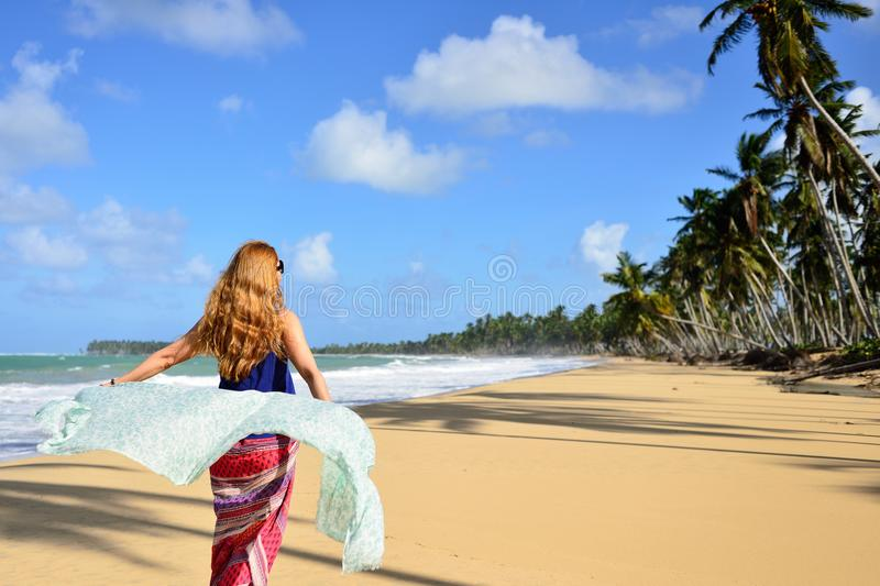 Playa LImon beach on Dominican Republic stock images