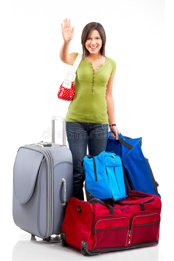 Download Happy tourist woman stock image. Image of family, lucky - 9383585