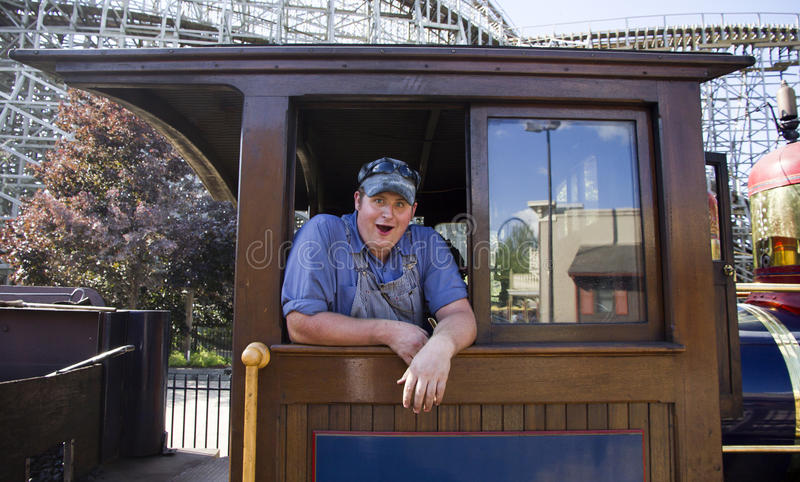 Download Happy train engineer stock image. Image of person, train - 17043967