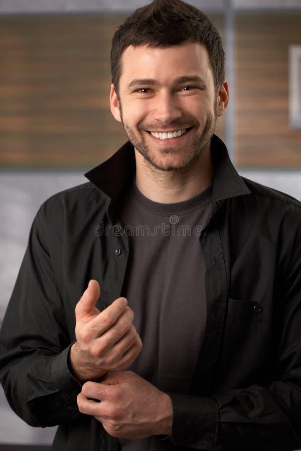 Happy trendy man royalty free stock image