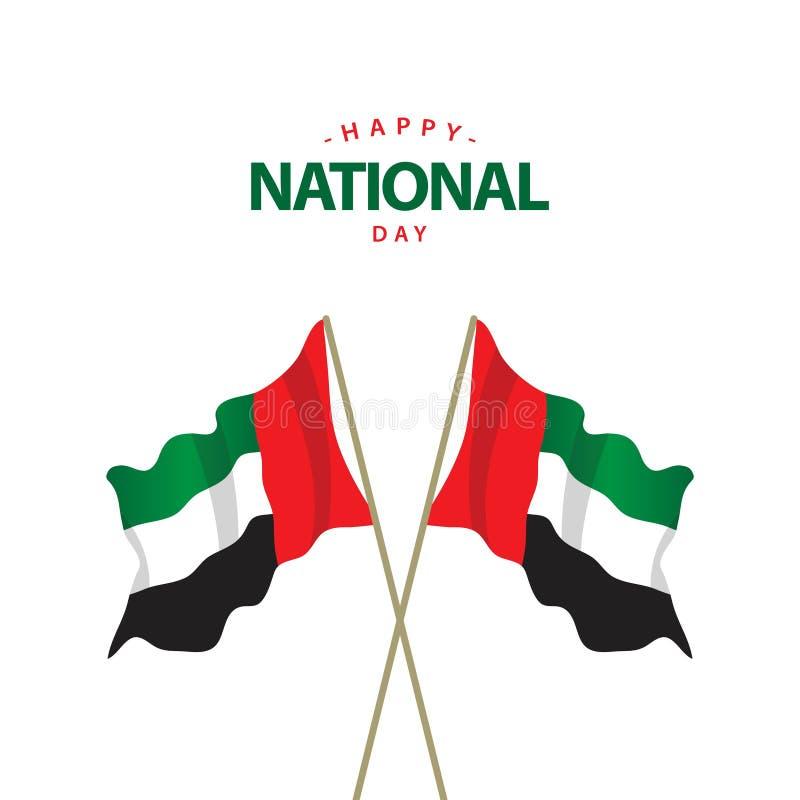 Happy UAE National Day Vector Template Design Illustration royalty free illustration