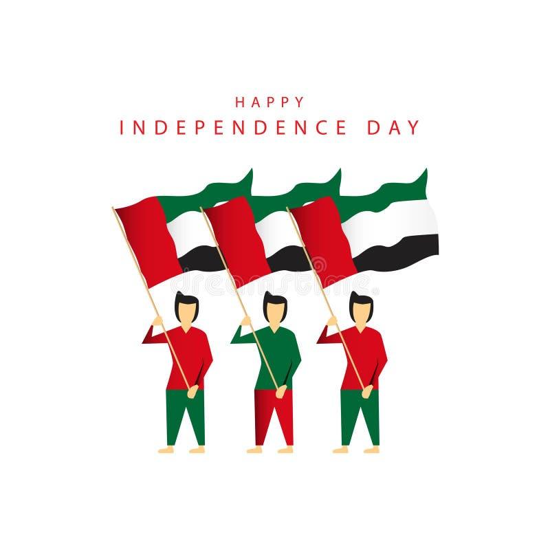 Happy UEA National Day Vector Design Illustration vector illustration