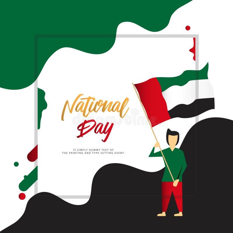 Happy UEA National Day Vector Design Illustration stock illustration