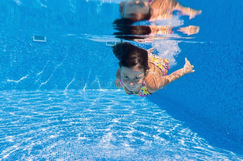 Download Happy Underwater Kid In Swimming Pool Stock Photo - Image of beautiful, energetic: 21324458