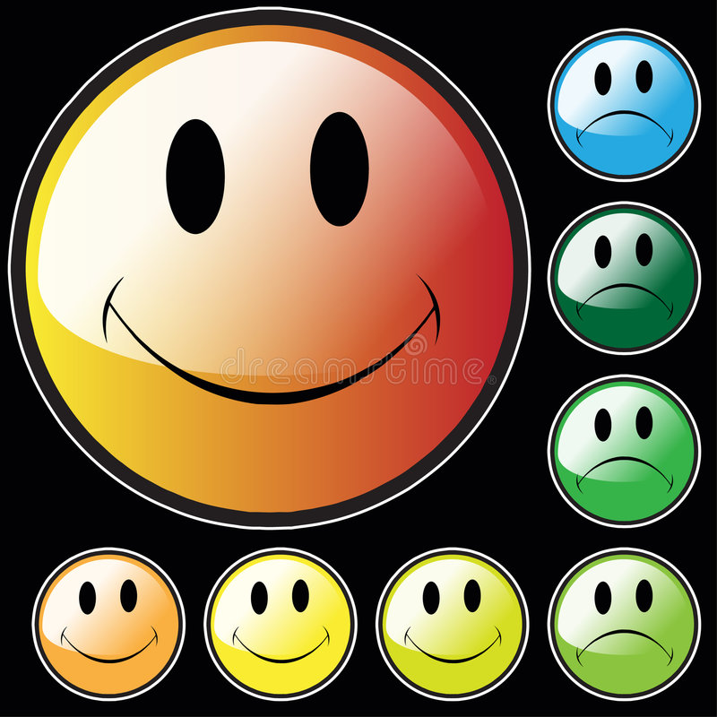Download Happy and Unhappy faces stock illustration. Image of illustration - 8733317