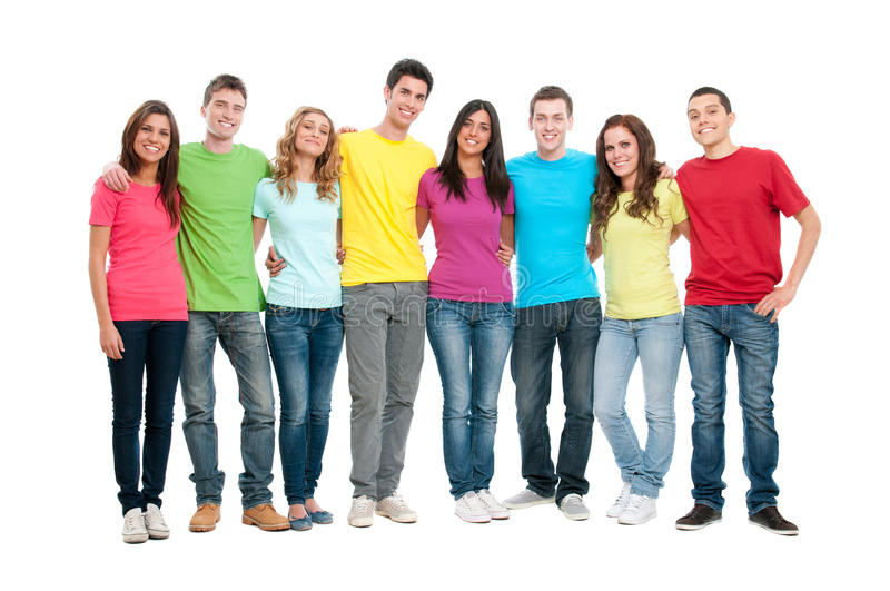 Happy United Teenager Friends Stock Photography