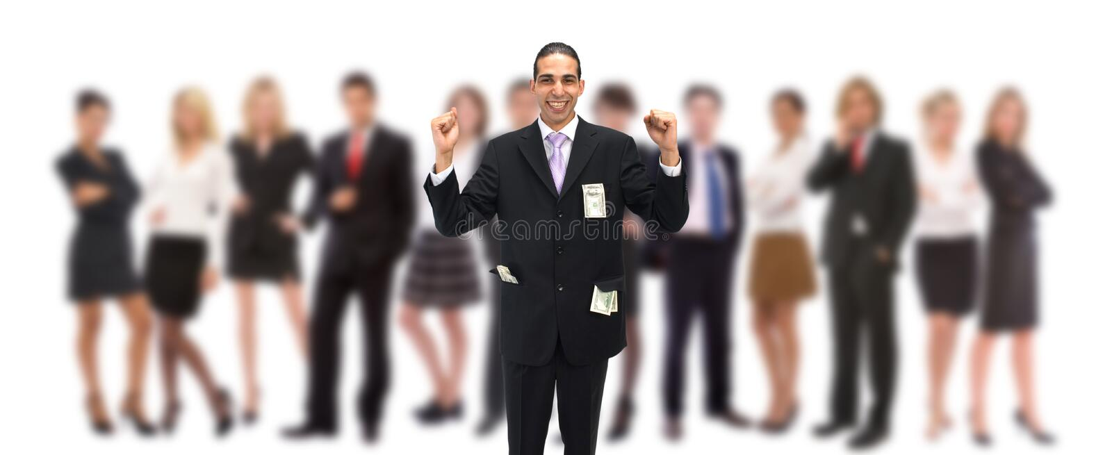 Happy with US dollars royalty free stock photos