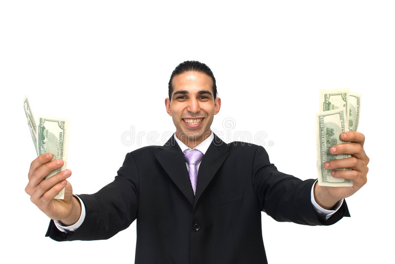 Happy With Us Dollars Royalty Free Stock Photography