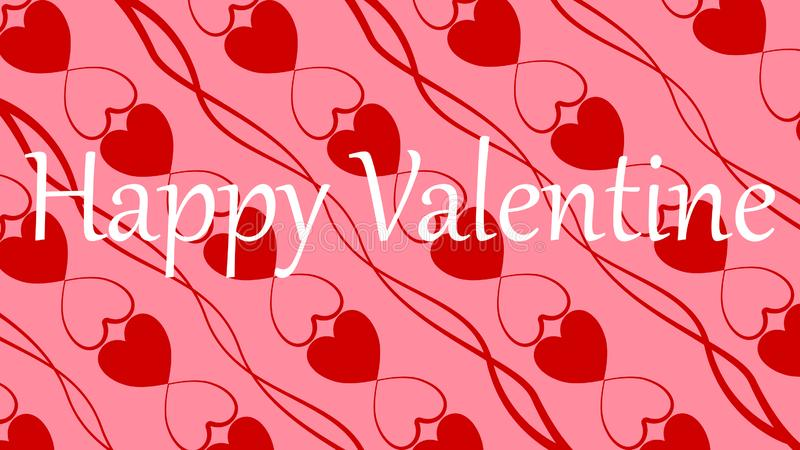 Happy Valentine background. From hearts and scraps vector illustration
