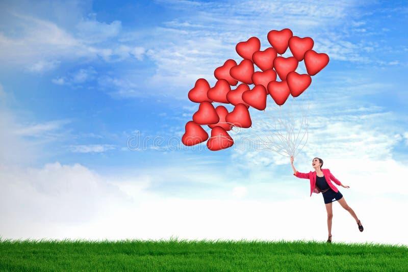Download Happy Valentine balloons stock illustration. Illustration of card - 28483380