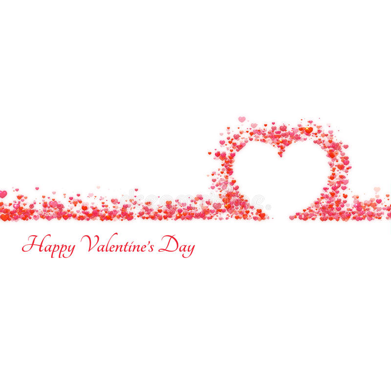 Happy valentine day background with hearts. Vector illustration.  vector illustration