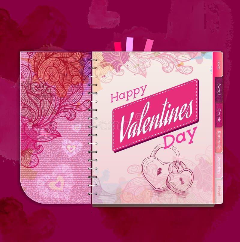 Happy valentine day background. Love heart vector illustration