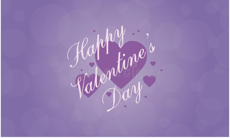 Happy Valentine Day greeting card collection stock illustration