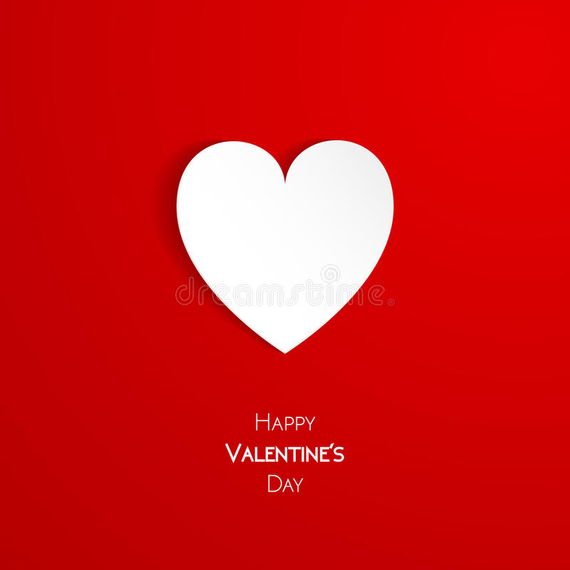 Happy Valentine Day greeting card. With heart, vector illustration of loving heart stock illustration