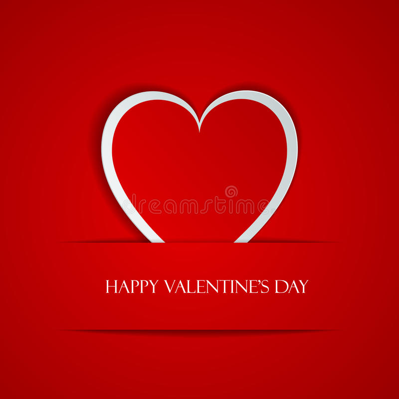Happy Valentine Day greeting card. With heart, vector illustration of loving heart royalty free illustration