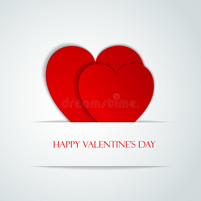 Happy Valentine Day greeting card. With hearts, illustration of loving hearts royalty free illustration