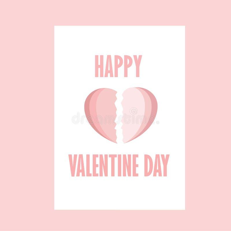 Happy Valentine day , Heart Valentine , Pink royalty free illustration