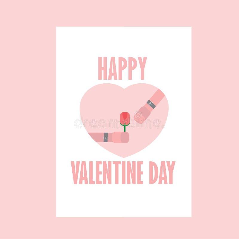 Happy Valentine day , Key Valentine , Pink royalty free illustration