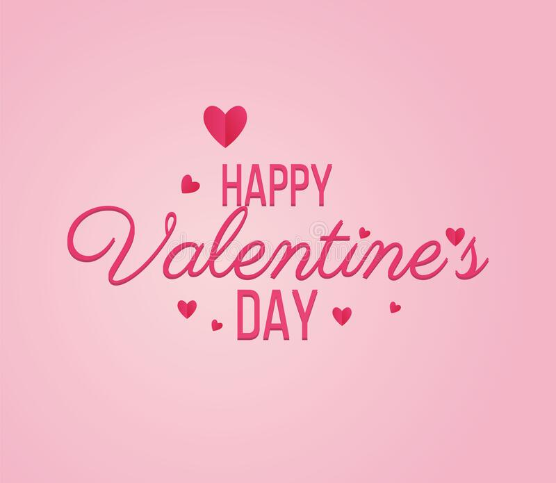 Happy Valentine Day lettering Greeting, vector stock images