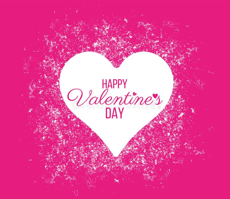 Happy Valentine Day lettering Greeting, vector royalty free stock photography