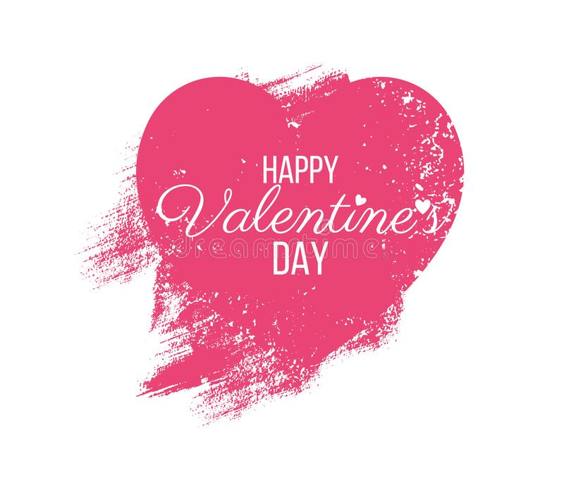 Happy Valentine Day lettering Greeting, vector stock image