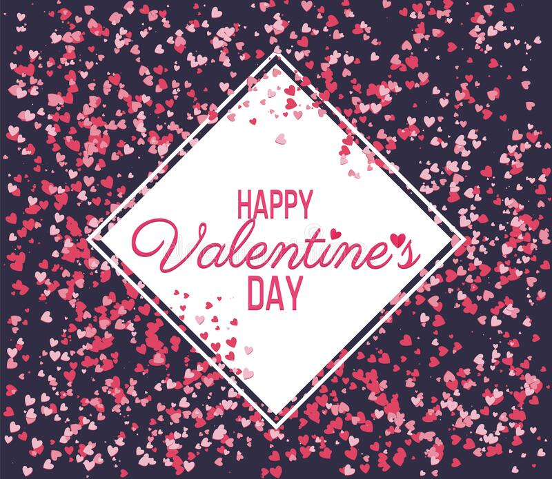 Happy Valentine Day lettering Greeting, vector royalty free stock image