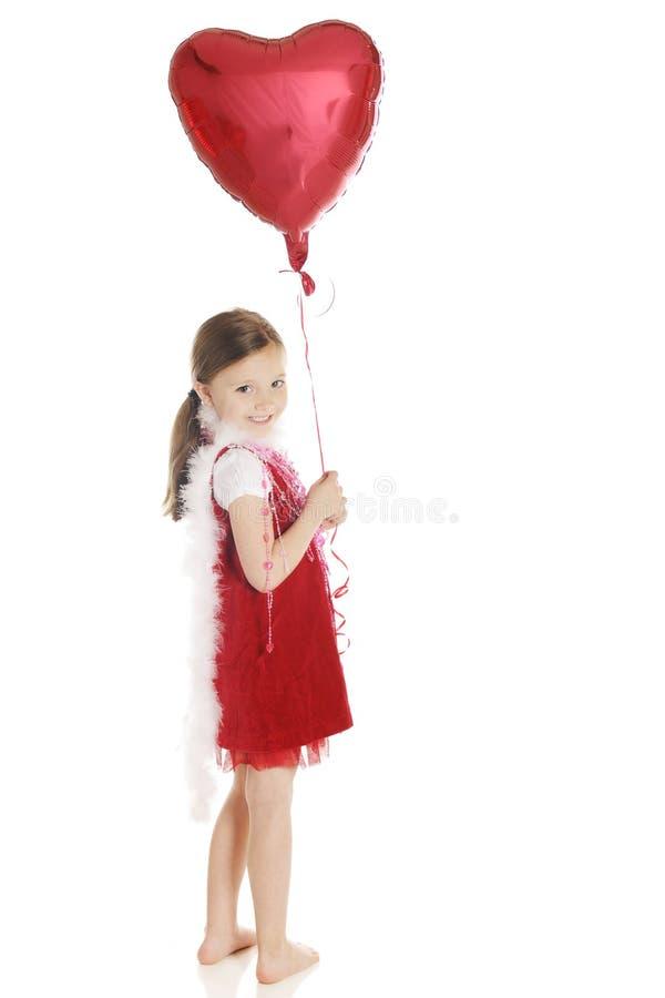 Happy Valentine Girl Royalty Free Stock Image