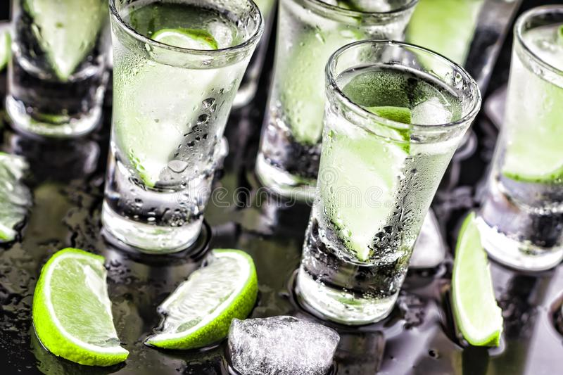 Valentine`s Day, Alcohol cocktail, lime, Lover`s Day party royalty free stock photos