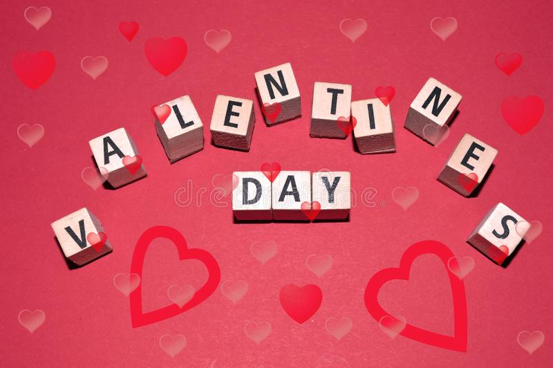 The Happy Valentine`s Day. As background vector illustration